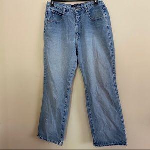 VENEZIA mom jeans retro light wash straight leg 18